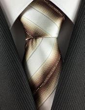 Corbata Crema con Bronce