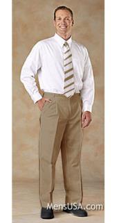 los hombres Plisado Pantalones