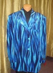 SKU*BB54 De los hombres Llama Azul Chaqueta