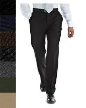 SKU*RTB154 Negro Estambre Lana Tela Plano Frente Pantalón
