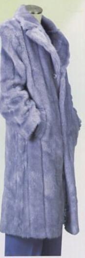 abrigo de piel sintética larga