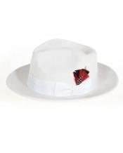 de Fedora Hat Blanco