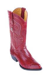 SKU*HA64 de los hombres rojo Avestruz Pierna Dedo del pie diseño Vaquero Botas