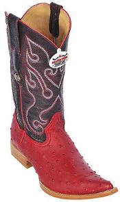 SKU*KA8847 Rojo Avestruz Impresión Equitación Occidental Bota