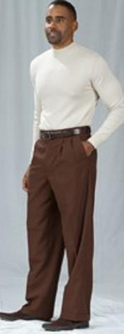 marrón Plisado Holgado Ajuste