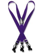 SKU*SD214 Sólido Púrpura Tirantes Y Forma Espalda Metal Plata- Tono Acortar