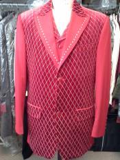 Rojo Color Moda Traje