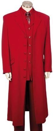 SKU*HJ4782 Mens Pleito Diseñado Urbano Rojo con Chaqueta de Longitud Llena