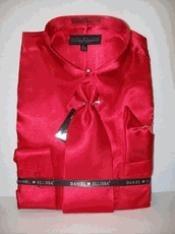 SKU * KO421 Camisa de vestir de raso Nueva Red Tie Combo camisas hombres de