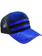 Azul/Negro Auténtico Avestruz Caimán