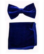 Azul Terciopelo Arco Corbata
