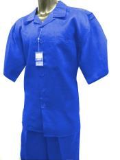 Azul Sólido Lino Para