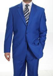 SKU*KA1336 2 Botón Real Azul Chaqueta y pantalones