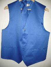 Azul Chaleco y Corbata