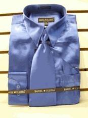 SKU * HG423 Royal vestido de satén Tie Combo camisas hombres de