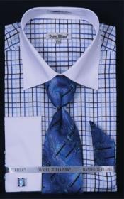 Pequeña Comprobar Blanco Collar