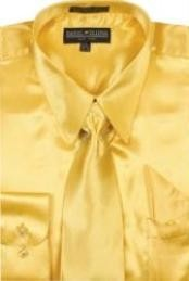 SKU * BF770 Hombres camiseta oro brillante vestido de raso de seda / lazo