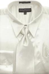 SKU * AG442 Hombres camiseta Marfil brillante vestido de raso de seda / lazo