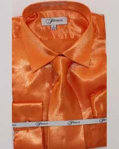 lujoso brillante naranja camisa