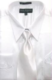 SKU * AK124 Hombres camiseta blanca brillante vestido de raso de seda / lazo