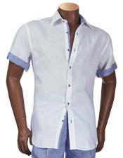 Manga Blanco Camisa con