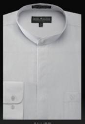 SKU*SL607 camisas de etiqueta de Cuello Divididas en bandas Básicas sin Plata de Mandarín de cuellos