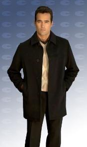 SKU*JARED De un solo pecho centro modelo de lana de ventilación abrigos