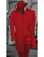 Rayado Moda Zoot rojo