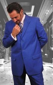hombre azul real solo