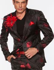 LA027 Floral Cielo Rojo