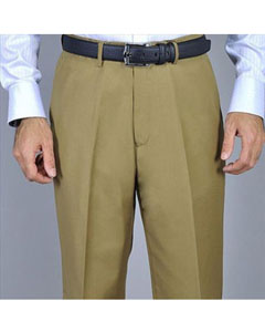 Soltero Pliegue Pantalones