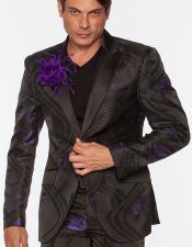 LA026 Floral Cielo Púrpura