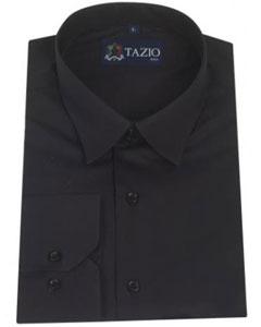 SKU*KA5334 Hombres Delgado Ajuste Vestir Camisa en Negro