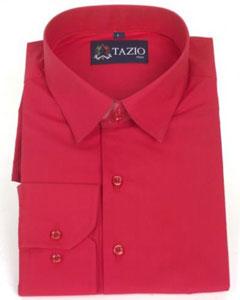 Delgado Ajuste rojo Vestir
