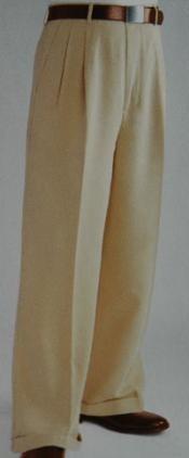 SKU*MF3876 Bronceado de Amplios Pantalones de Vestido de Pierna pantalón de vestido holgado Plegado