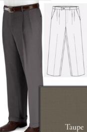 SKU*PN90 Gris pardo Grande y Alto Vestir Pantalón
