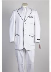 Botón Moda Traje Blanco