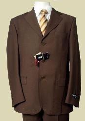 marrón Tres botón Lana