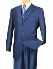 SKU*HA2256 3 Botón Multi Color Muesca Solapa Establecido Traje Con Plisado Pantalones