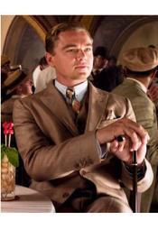 SKU*JA859 De los hombres Marrón Pico Solapa Estupendo Gatsby Traje