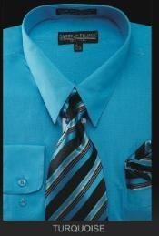 SKU*TU7901 Camisa de Etiqueta Masculina - Lazo Superior - Turquesa