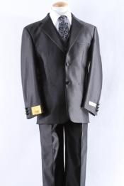 SKU*KA2200 Dos Pleito de Vestido de Muchacho de Botón