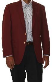 SKU * QM5970 dos botón Blazer mezcla de lana Borgoña ~ ~ color granate Vino (hombres + mujeres)