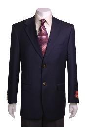 SKU*KJ433 WoolJacket/Blazer Azul Marino de 2 botones masculino
