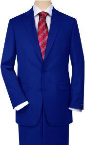 SKU*QZ46 Real Azul Comodidad Ajuste Chaqueta Y Pantalón