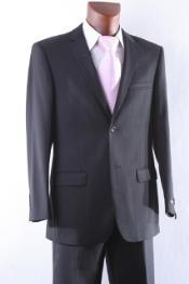SKU * VB9099 Hombres barato descuentan 2 botón del juego de vestido Slim Fit con pantalones plana frontal negro