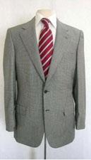 SKU*SGP509 2 Botón del modelo de Houndstooth de la tela a cuadros traje gris