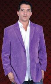 Botón púrpura solapa de
