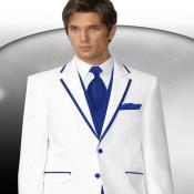 Azul Recortar Collar Esmoquin
