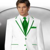 Verde Recortar Collar Esmoquin